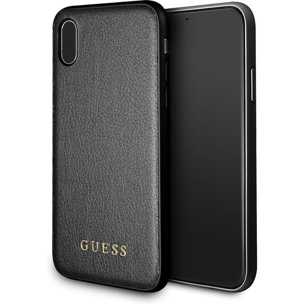 Pouzdro Guess Guess Iridescent iPhone X Černá