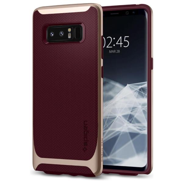 Pouzdro Spigen Neo Hybrid Galaxy Note 8 burgundy Červená