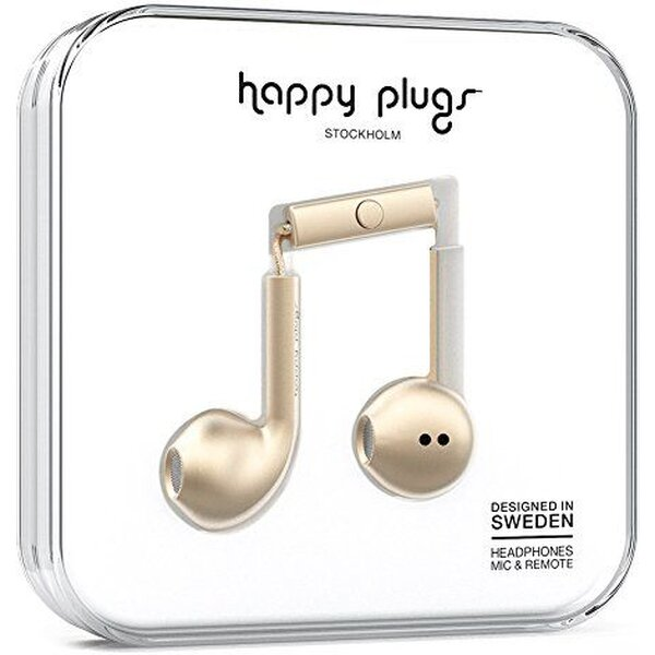 Happy Plugs Earbud Plus Zlatá