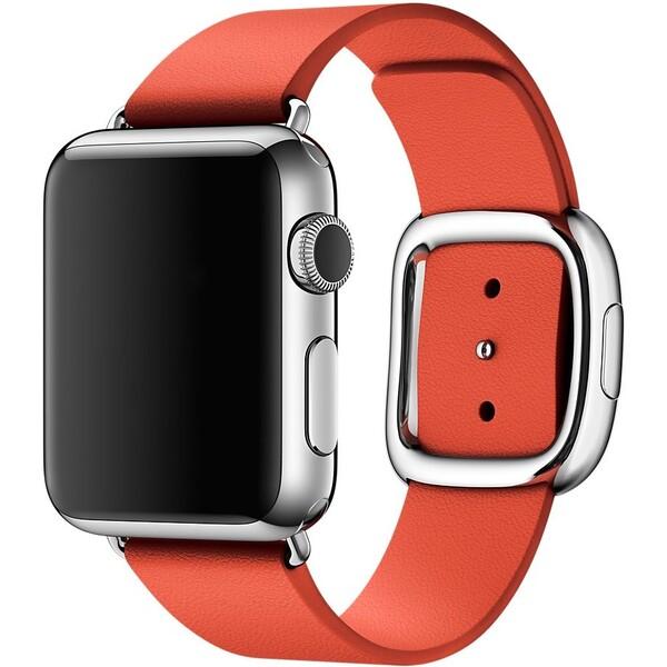 Apple Watch řemínek s moderní přezkou 38mm M červený