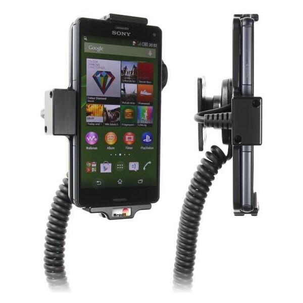 Brodit držák do auta na Sony Xperia Z3 compact bez pouzdra, s nabíjením z cig. zapalovače 512675 Černá