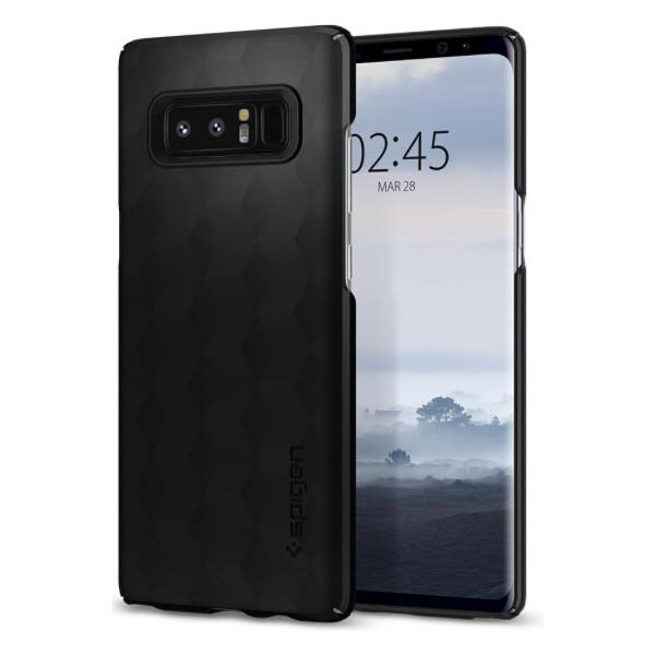 Pouzdro Spigen Thin Fit Galaxy Note 8 matte černé Černá