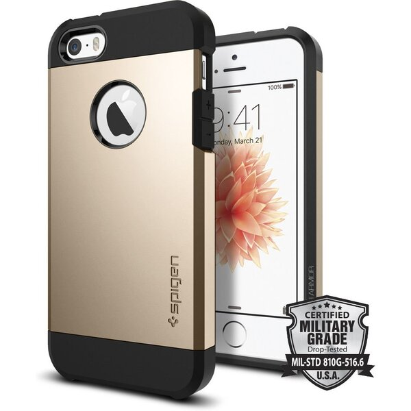 Kryt Spigen Tough Armor,champagne gold - iPhone SE / 5s / 5 (041CS20252) Zlatá