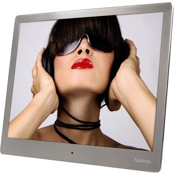 Hama digitální fotorámeček Steel Premium Stříbrná
