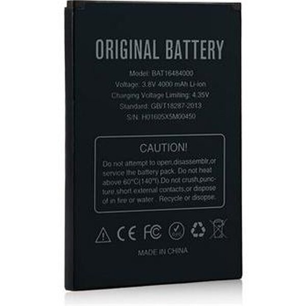 Doogee BAT16484000 Original baterie 4000mAh pro Doogee X5 MAX/X5 MAX Pro (eko-balení) Černá