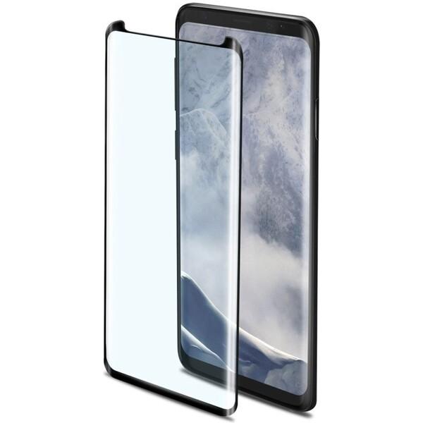 CELLY Glass 3D tvrzené sklo pro celý displej Samsung Galaxy S9+ černé 3DGLASS791BK Černá