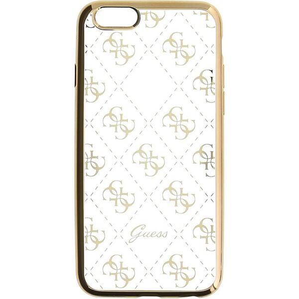 Pouzdro Guess 4G TPU iPhone 6/6S zlaté GUHCP6TR4GG Zlatá