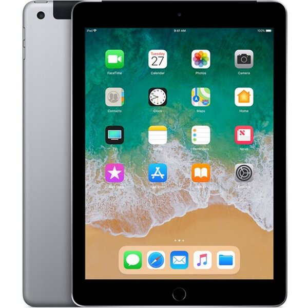 Apple iPad 9.7 (2018) Wi-Fi+Cellular 128GB Space Grey MR722FD/A Vesmírně šedá