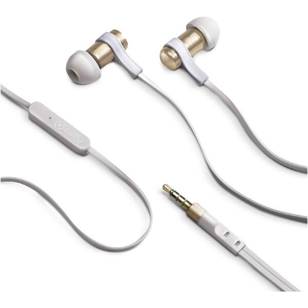 CELLY BSIDE sluchátka plochý kabel zlaté