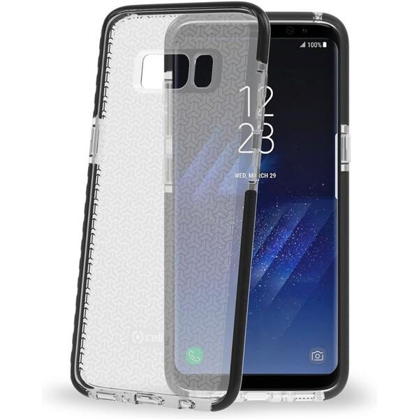 Pouzdro CELLY Hexagon Samsung Galaxy S8 černé Černá