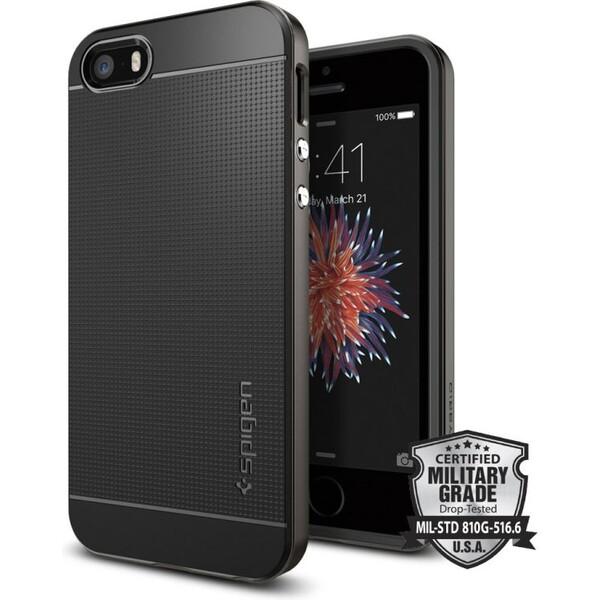 Pouzdro Spigen Neo Hybrid iPhone SE / 5s / 5 gunmetal Černá