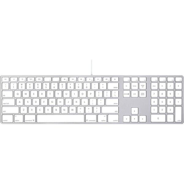Apple Wired Keyboard s numerickou klávesnicí US MB110LB/B Stříbrná