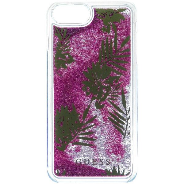 Pouzdro Guess Liquid Glitter Hard Palm Spring Rose iPhone 6/6S/7 Plus Růžová