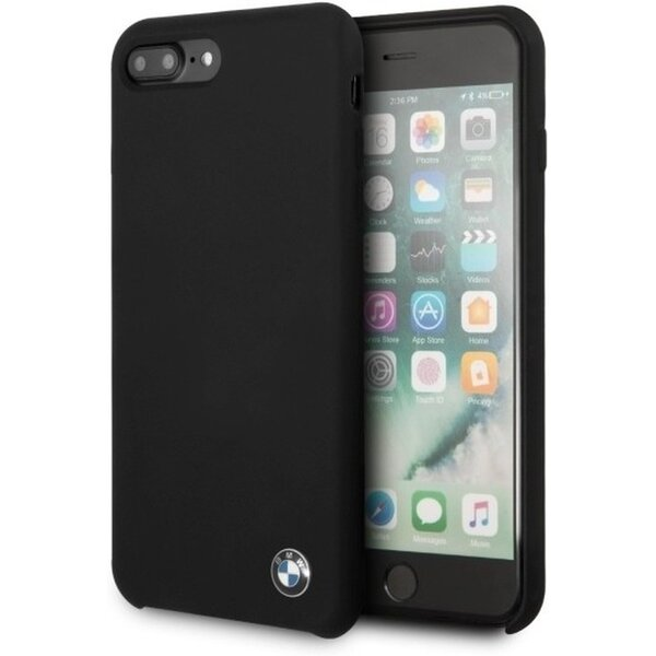 Pouzdro BMW Silicone Hard Case iPhone 8 Plus Černá bff9e80a56b