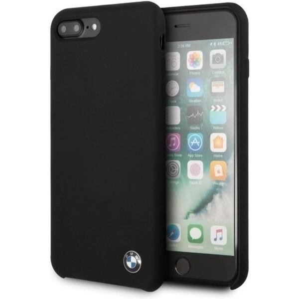 Pouzdro BMW Silicone Hard Case iPhone 8 Plus Černá
