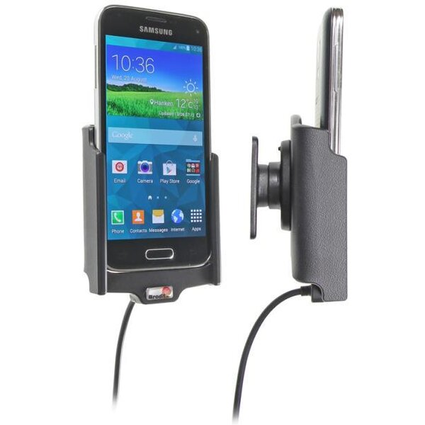 Brodit držák do auta na Samsung Galaxy S5 Mini bez pouzdra, s nabíjením z cig. zapalovače 512649dr Černá