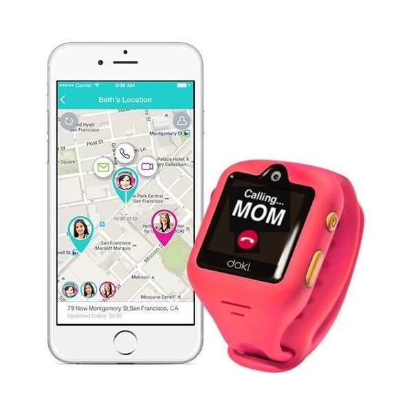 dokiWatch dětské chytré hodinky s videotelefonem a GPS - Dazzle Pink
