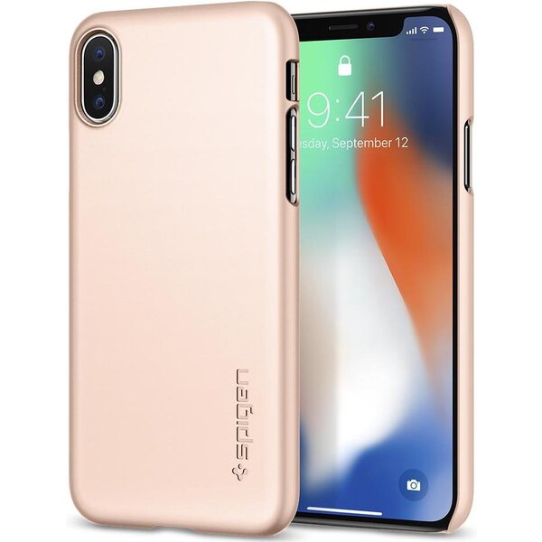 Spigen Thin Fit, rose gold - iPhone X Růžově zlatá