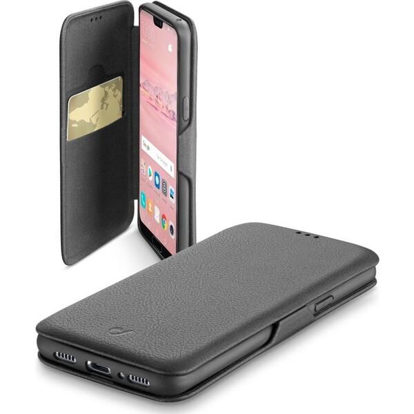 CellularLine Book Clutch pouzdro typu kniha Huawei P20 Pro PU kůže černé BOOKCLUTCHP20PLK Černá