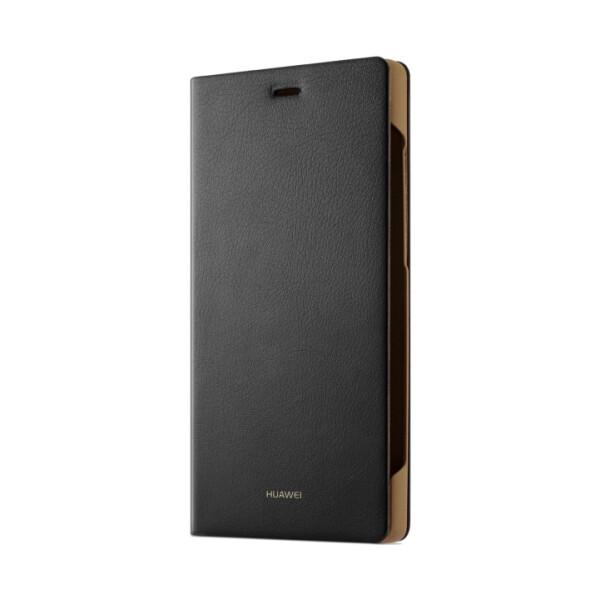 Pouzdro Huawei Folio Flip Huawei P8 Lite černé Černá