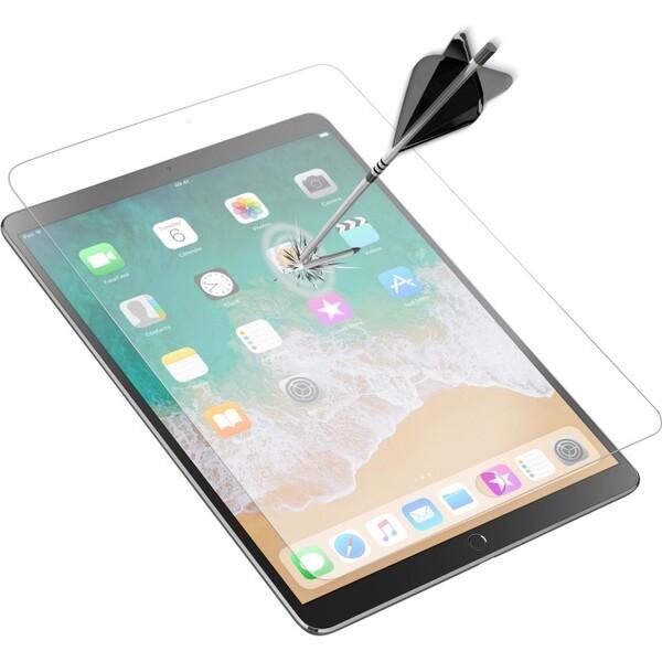 """Ochranné zaoblené tvrzené sklo pro celý displej CellularLine GLASS pro Apple iPad Pro 12,9"""" (2017) Čirá"""