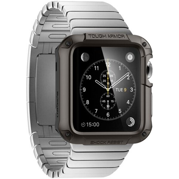 Spigen Tough Armor odolné pouzdro Apple Watch S1/S2 42mm šedé