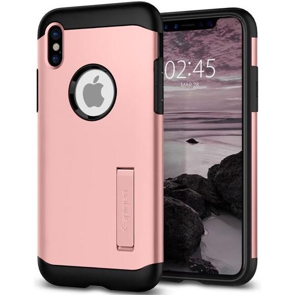 Spigen Slim Armor, rose gold - iPhone X Růžově zlatá