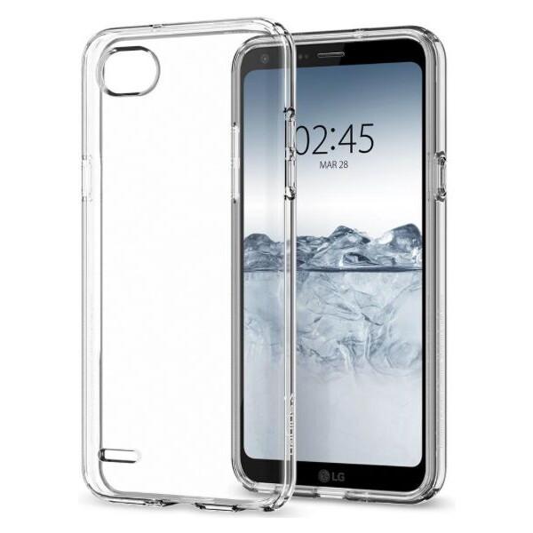 Pouzdro Spigen Liquid Crystal LG Q6 čiré Čirá
