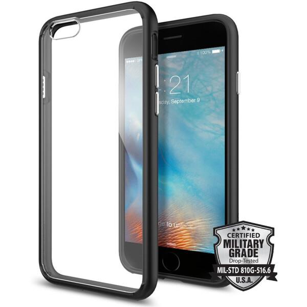 Pouzdro Spigen Ultra Hybrid iPhone 6/6s černé Čirá