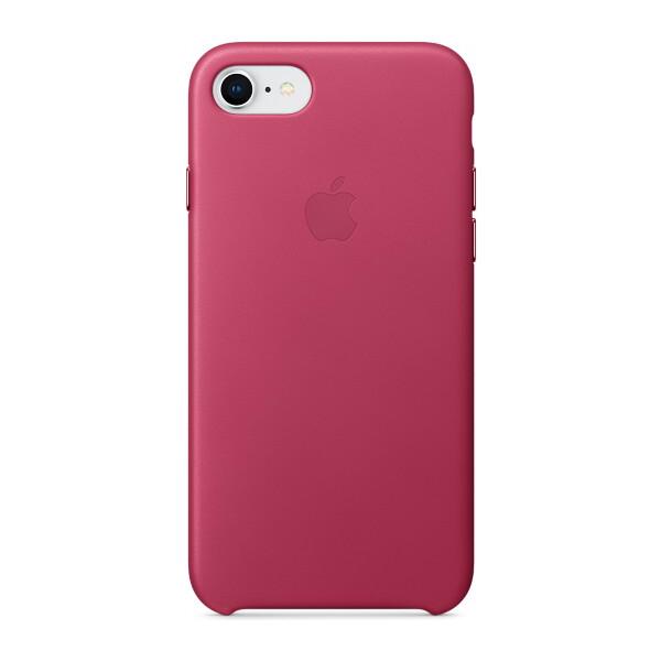 Pouzdro Apple kožené iPhone 8/7 fuchsiové Fuchsiová