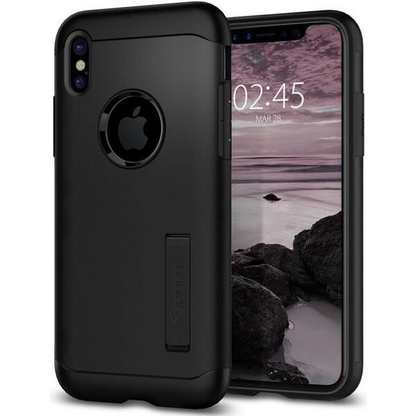 Spigen Slim Armor, black - iPhone X Černá