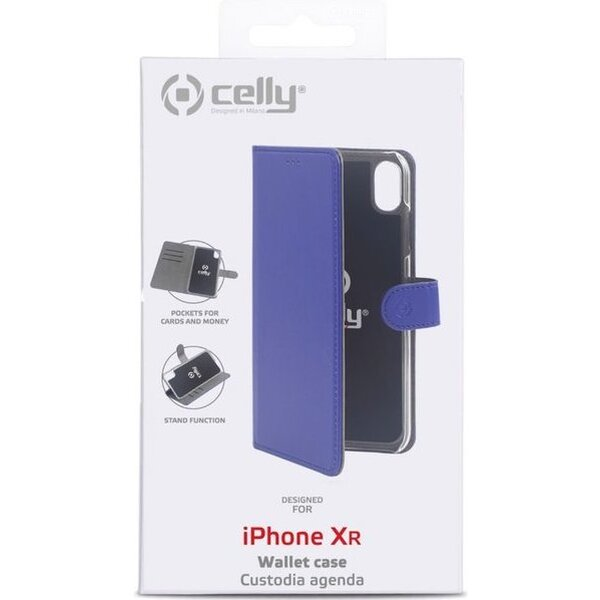 CELLY Wally flip pouzdro Apple iPhone XS Max modré