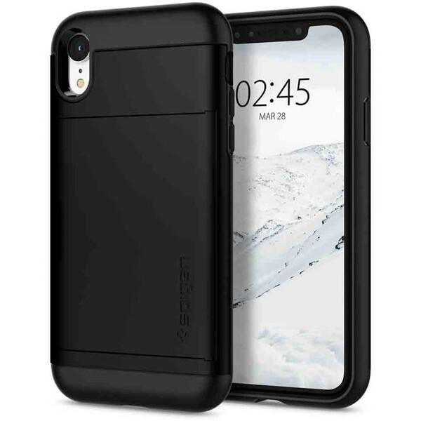 Pouzdro Spigen Slim Armor CS Apple iPhone XR Černá 9769df90136