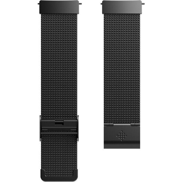 Náramek Fitbit pro Versa kovový- Mesh Black Stainless Steel (FB166MMBK) Černá
