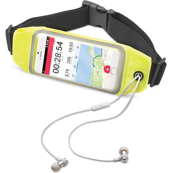 """CELLY RunBelt View sportovní neoprénové pouzdro pro telefony do 5.5"""" žluté RUNBVIEWXXLYL Žlutá"""