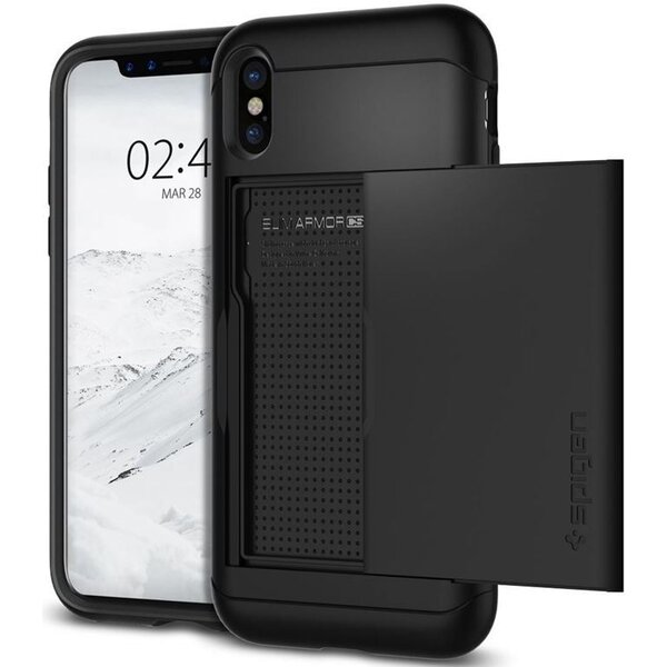 Spigen Slim Armor CS, black - iPhone X Černá