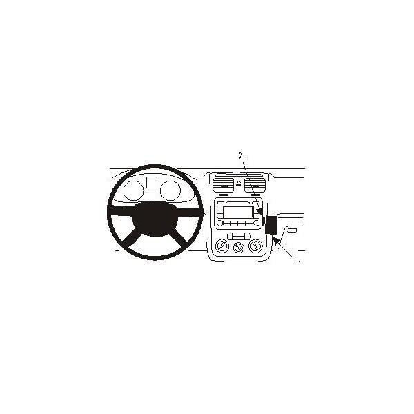 Brodit ProClip montážní konzole Volkswagen Eos 07-/Golf V 04-07/Jetta 06-07