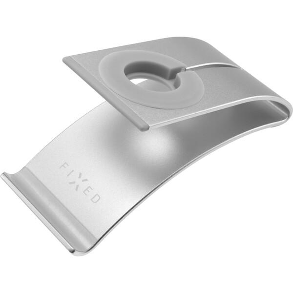 FIXED Frame WATCH hliníkový stojánek pro hodinky, mobilní telefony a tablety stříbrný