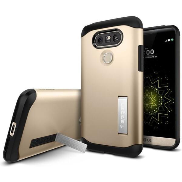 Pouzdro Spigen Slim Armor LG Nexus 5 D821 Zlaté Zlatá