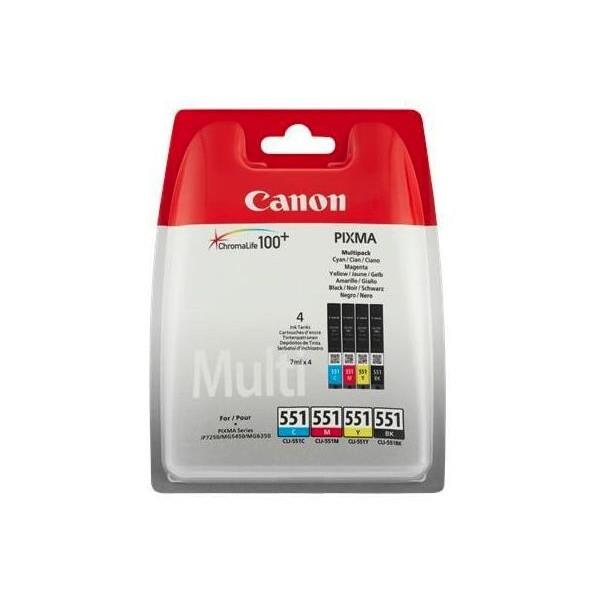 Canon BJ CARTRIDGE CLI-551 C/M/Y/BK Multi Pack w/o Sec