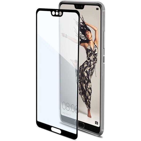 CELLY Glass Ochranné tvrzené sklo Huawei P20 Pro FULLGLASS746BK Černá