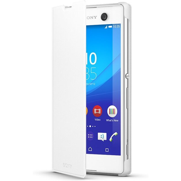 Pouzdro Sony SCR48 Style Cover Stand Xperia M5 Bílá