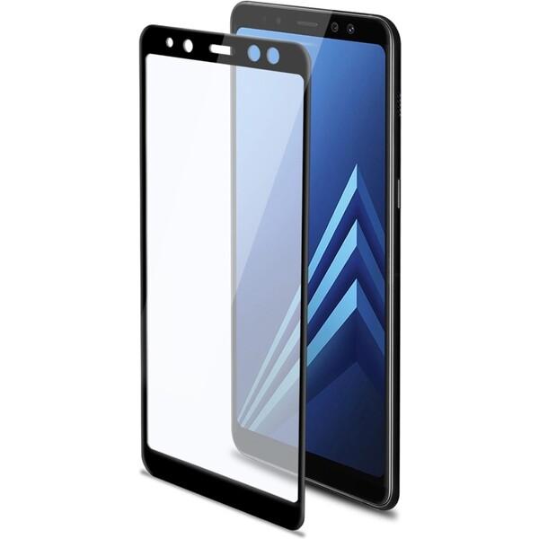 CELLY Glass Ochranné tvrzené sklo Samsung galaxy A8 FULLGLASS705BK Černá
