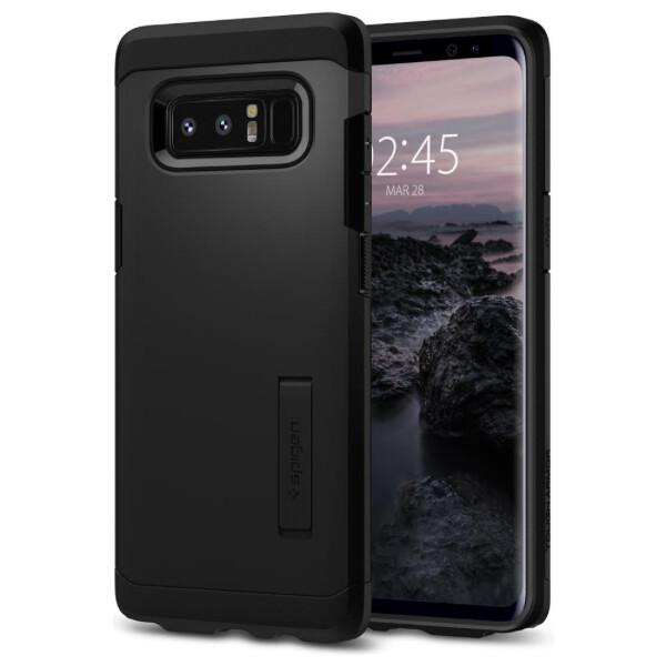 Pouzdro Spigen Tough Armor Samsung Galaxy Note 8 černé Černá