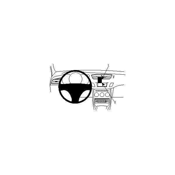 Držák Brodit ProClip Citroen C3, DS3 10-16 (ne pro vozy s orig. navigací) Černá