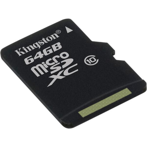 Kingston micro SDXC 64GB Class 10 Černá