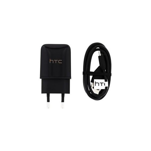 HTC TC P900 nabíječka do sítě dělená + DC M410 HTC microUSB kabel (eko-balení)