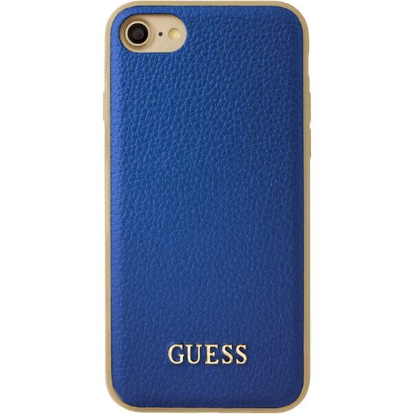 Pouzdro Guess IriDescent TPU iPhone 7 modré Modrá