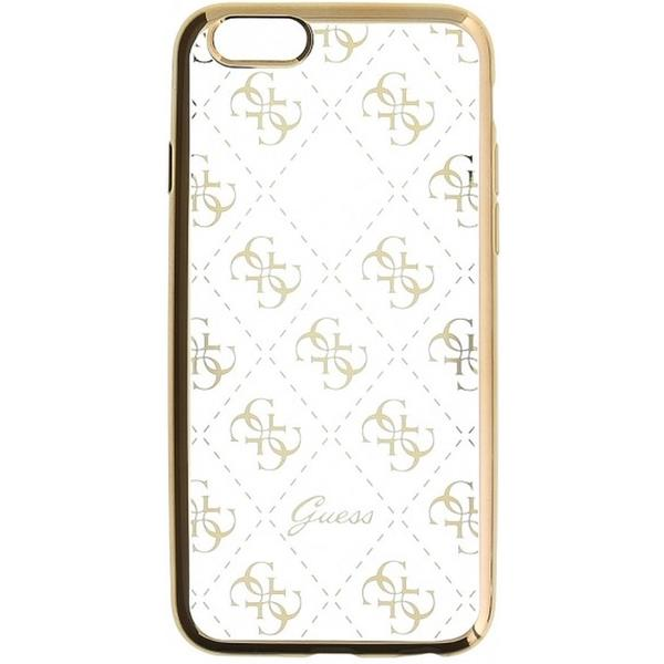 Pouzdro Guess Guess 4G TPU Apple iPhone 5/5S/SE zlaté Zlatá