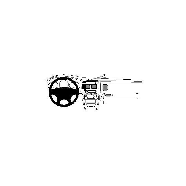 Brodit ProClip montážní konzole pro Dodge Intrepid 98-04, na střed 852547 Černá